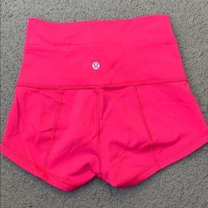 Lululemon Pink Shorts Size 4